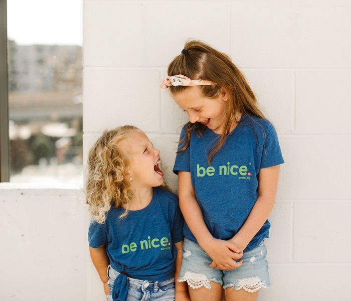 Youth be nice. Blue Tee