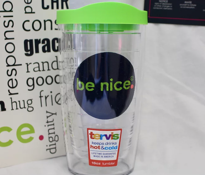 be nice. Tervis