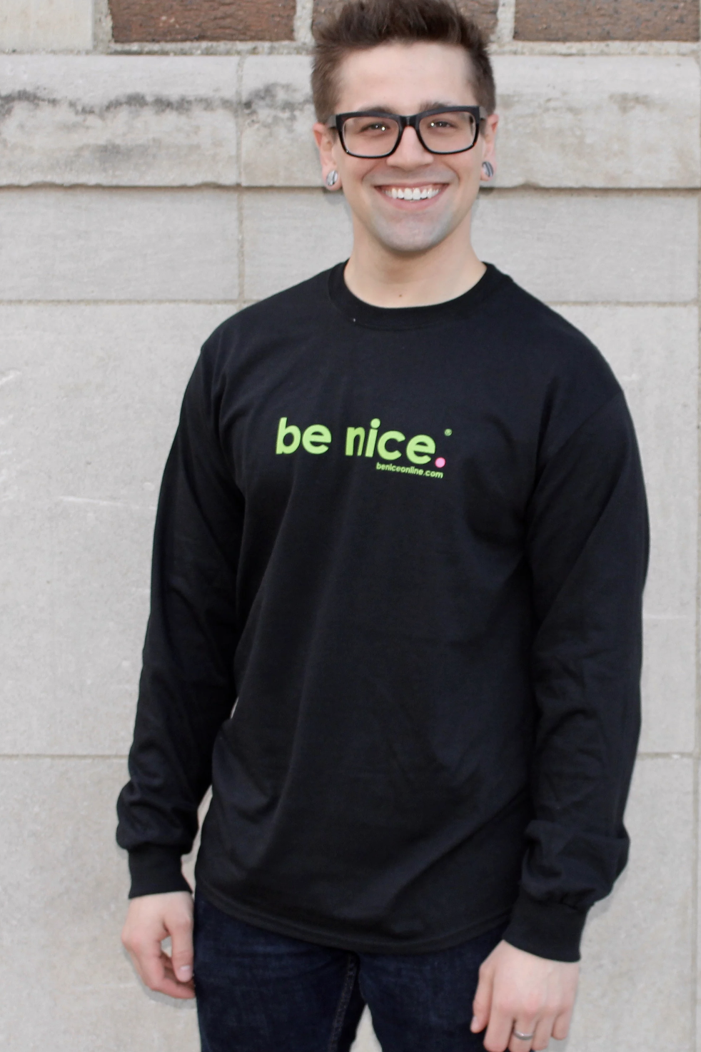 Be nice Zip Up Hooded Sweatshirt